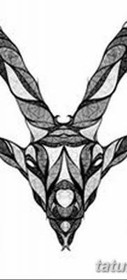 фото тату знак зодиака Козерог от 21.10.2017 №014 – tattoo sign of the zodiac Capricorn