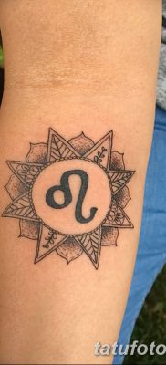 фото тату знак зодиака Лев от 21.10.2017 №004 – tattoo sign of the zodiac Leo