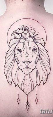 фото тату знак зодиака Лев от 21.10.2017 №013 – tattoo sign of the zodiac Leo