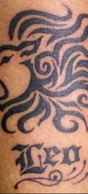 фото тату знак зодиака Лев от 21.10.2017 №025 – tattoo sign of the zodiac Leo
