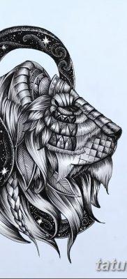фото тату знак зодиака Лев от 21.10.2017 №026 – tattoo sign of the zodiac Leo