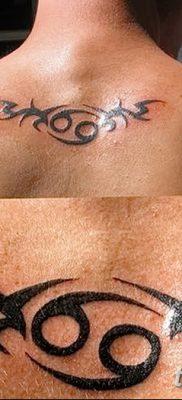 фото тату знак зодиака Рак от 21.10.2017 №008 – tattoo sign of the zodiac Cancer