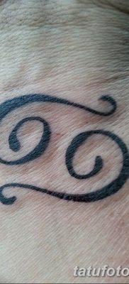 фото тату знак зодиака Рак от 21.10.2017 №015 – tattoo sign of the zodiac Cancer