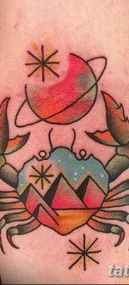 фото тату знак зодиака Рак от 21.10.2017 №020 – tattoo sign of the zodiac Cancer