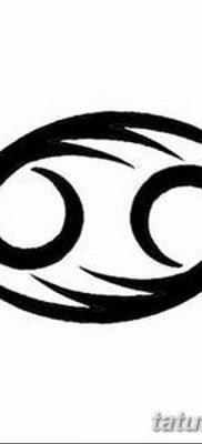 фото тату знак зодиака Рак от 21.10.2017 №021 – tattoo sign of the zodiac Cancer