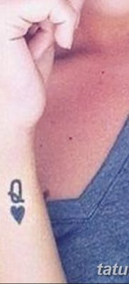 фото тату игральные карты королева от 21.10.2017 №005 – tatoo playing cards queen