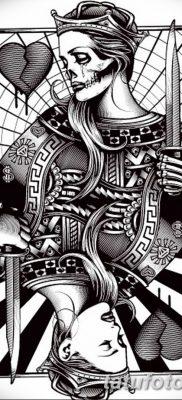 фото тату игральные карты королева от 21.10.2017 №008 – tatoo playing cards queen