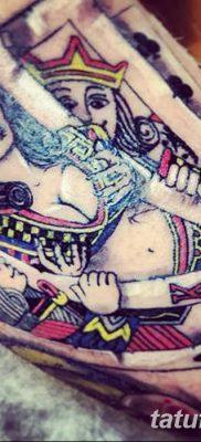 фото тату игральные карты королева от 21.10.2017 №009 – tatoo playing cards queen