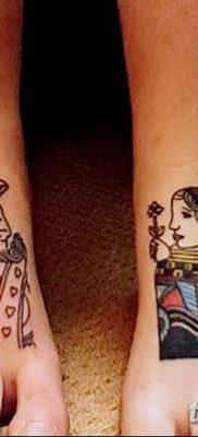 фото тату игральные карты королева от 21.10.2017 №022 – tatoo playing cards queen