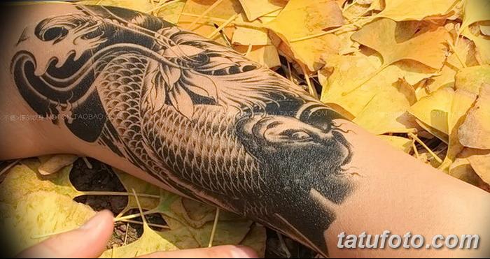 фото тату карась от 28.10.2017 №006 - carp tattoo - tatufoto.com