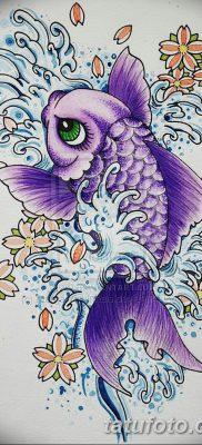 фото тату карась от 28.10.2017 №012 – carp tattoo – tatufoto.com