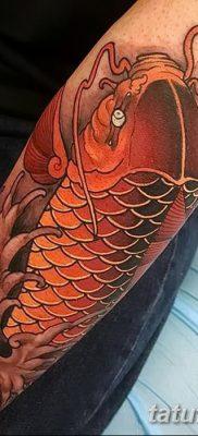 фото тату карась от 28.10.2017 №020 – carp tattoo – tatufoto.com
