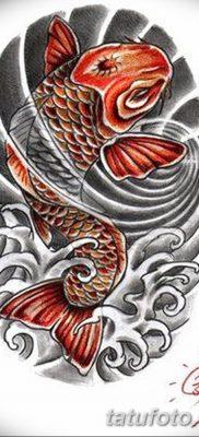 фото тату карась от 28.10.2017 №064 – carp tattoo – tatufoto.com