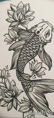 фото тату карась от 28.10.2017 №076 – carp tattoo – tatufoto.com