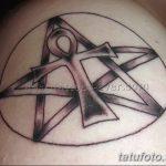 фото тату креста Анкх от 27.10.2017 №061 - Ankh tattoo - tatufoto.com 232343422
