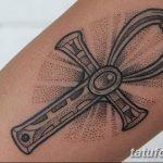 фото тату креста Анкх от 27.10.2017 №065 - Ankh tattoo - tatufoto.com