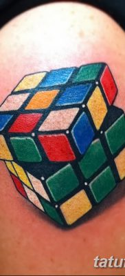 фото тату кубики от 28.10.2017 №066 – tattoos cubes – tatufoto.com