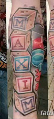 фото тату кубики от 28.10.2017 №067 – tattoos cubes – tatufoto.com