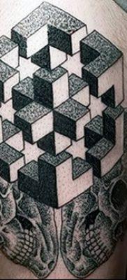 фото тату кубики от 28.10.2017 №078 – tattoos cubes – tatufoto.com