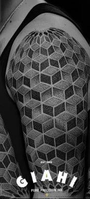 фото тату кубики от 28.10.2017 №080 – tattoos cubes – tatufoto.com