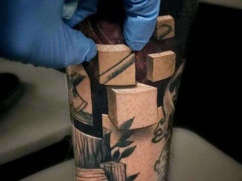 фото тату кубики от 28.10.2017 №105 - tattoos cubes - tatufoto.com