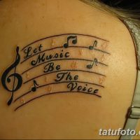 Значение тату ноты