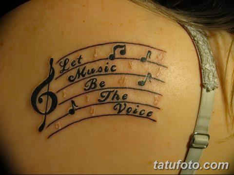фото тату ноты от 30.10.2017 №072 - Tattoo Notes - tatufoto.com