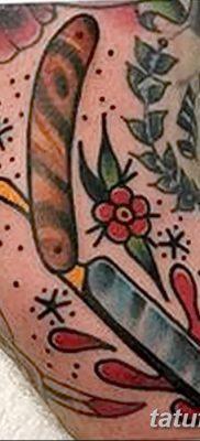 фото тату опасная бритва от 27.10.2017 №025 – tattoo dangerous razor – tatufoto.com