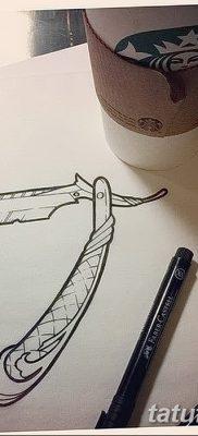 фото тату опасная бритва от 27.10.2017 №026 – tattoo dangerous razor – tatufoto.com
