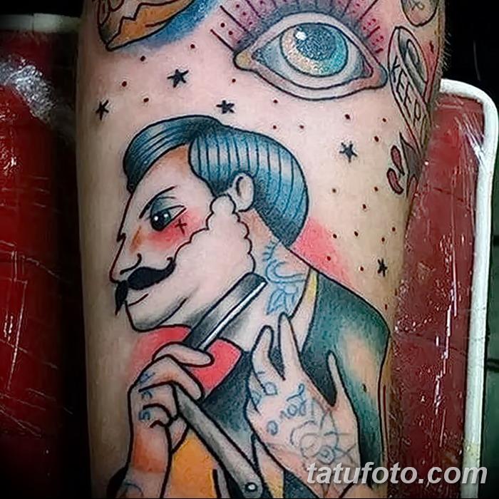 фото тату опасная бритва от 27.10.2017 №031 - tattoo dangerous razor - tatufoto.com