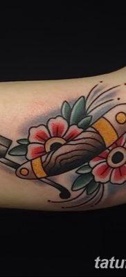 фото тату опасная бритва от 27.10.2017 №034 – tattoo dangerous razor – tatufoto.com
