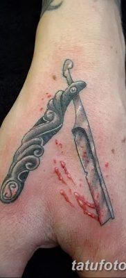 фото тату опасная бритва от 27.10.2017 №045 – tattoo dangerous razor – tatufoto.com