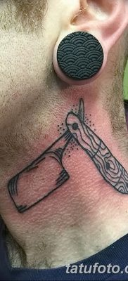фото тату опасная бритва от 27.10.2017 №048 – tattoo dangerous razor – tatufoto.com