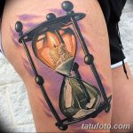 фото тату песочные часы от 21.10.2017 №010 - tattoo hourglass - tatufoto.com