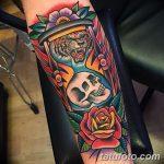 фото тату песочные часы от 21.10.2017 №022 - tattoo hourglass - tatufoto.com
