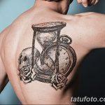 фото тату песочные часы от 21.10.2017 №025 - tattoo hourglass - tatufoto.com
