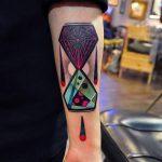 фото тату песочные часы от 21.10.2017 №026 - tattoo hourglass - tatufoto.com