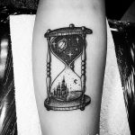 фото тату песочные часы от 21.10.2017 №030 - tattoo hourglass - tatufoto.com
