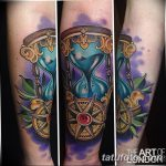 фото тату песочные часы от 21.10.2017 №036 - tattoo hourglass - tatufoto.com