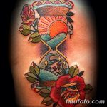 фото тату песочные часы от 21.10.2017 №040 - tattoo hourglass - tatufoto.com