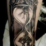 фото тату песочные часы от 21.10.2017 №042 - tattoo hourglass - tatufoto.com