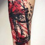 фото тату песочные часы от 21.10.2017 №051 - tattoo hourglass - tatufoto.com