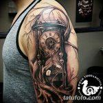 фото тату песочные часы от 21.10.2017 №052 - tattoo hourglass - tatufoto.com