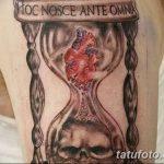 фото тату песочные часы от 21.10.2017 №054 - tattoo hourglass - tatufoto.com