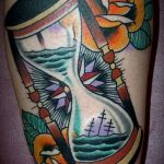 фото тату песочные часы от 21.10.2017 №061 - tattoo hourglass - tatufoto.com