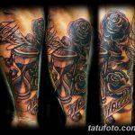 фото тату песочные часы от 21.10.2017 №084 - tattoo hourglass - tatufoto.com