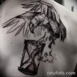 фото тату песочные часы от 21.10.2017 №085 - tattoo hourglass - tatufoto.com