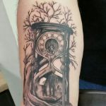 фото тату песочные часы от 21.10.2017 №098 - tattoo hourglass - tatufoto.com