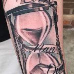 фото тату песочные часы от 21.10.2017 №104 - tattoo hourglass - tatufoto.com