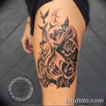 фото тату песочные часы от 21.10.2017 №122 - tattoo hourglass - tatufoto.com